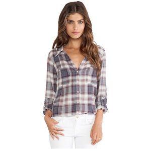 Joie feminine cartel plaid shirt
